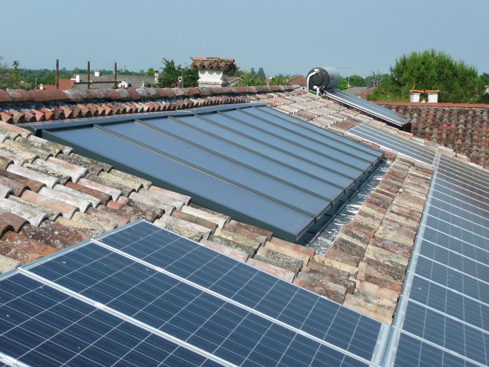 Pannelli solari a Fontanafredda